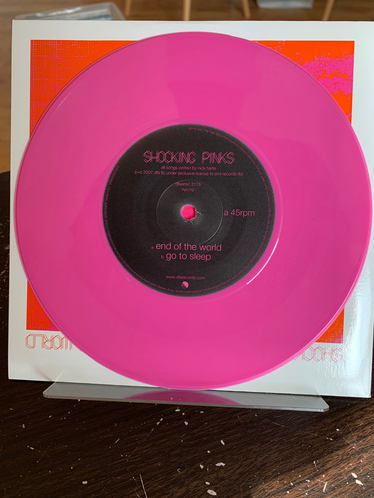 "Shocking Pinks - End Of The World 7"" PINK VINYL"