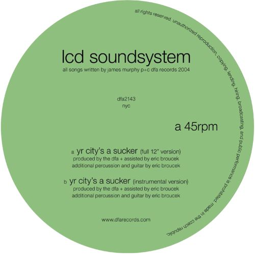 LCD Soundsystem – Yr City's A Sucker