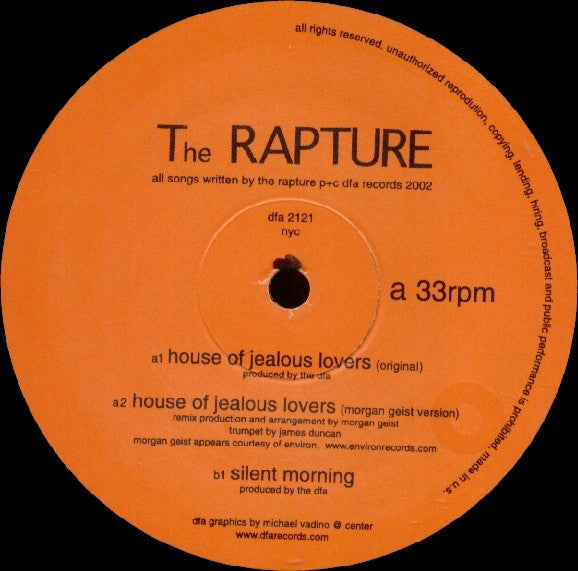 The Rapture - House of Jealous Lovers 12""