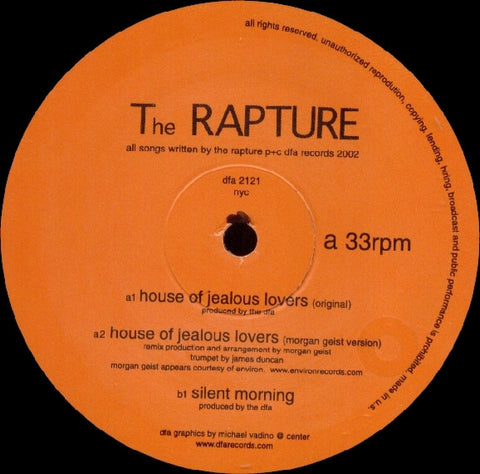 The Rapture - House of Jealous Lovers 12