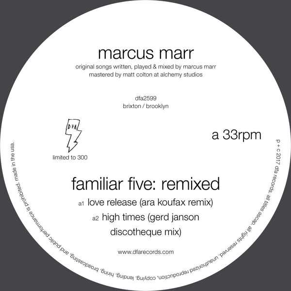 Marcus Marr - Familiar Five: Remixed 12""