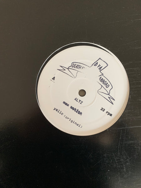 "Death From Abroad Series / Altz  - Max Motion w/Idjut Boys Remixes  (White Label 12"")"