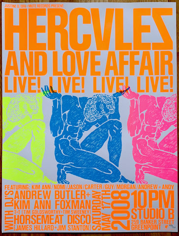 Hercules & Love Affair - Album Release Party Poster