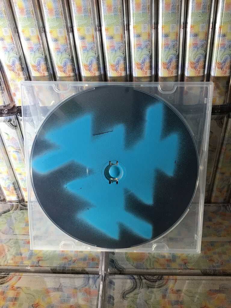 Factory Floor - Two Different Ways CD w/ spray painted cover + Richard H. Kirk Remix