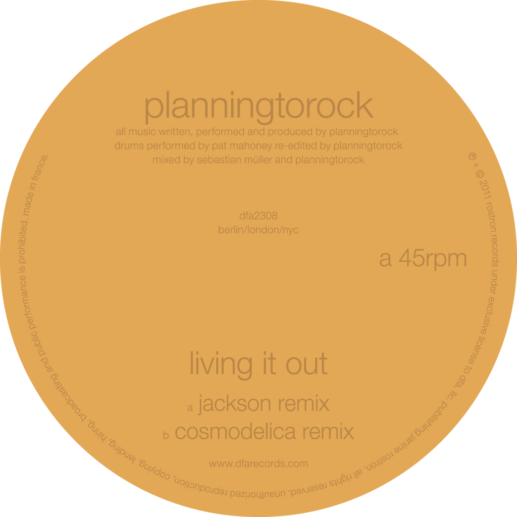 Planningtorock - Living It Out (Jackson / Cosmodelica Remixes)
