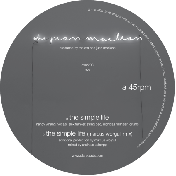The Juan Maclean - The Simple Life 12""