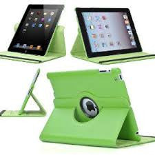 (Green) 360 Degree Rotating Stand Smart Cover PU Leather Case for Apple iPad 4th Generation Retina Display / the new iPad 3 / iPad 2