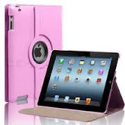 (Pink) 360 Degree Rotating Stand Smart Cover PU Leather Case for Apple iPad 4th Generation Retina Display / the new iPad 3 / iPad 2