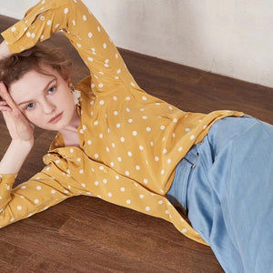 Polka Dot Silk Shirt