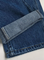 80's High-waist Straight Blue Jeans