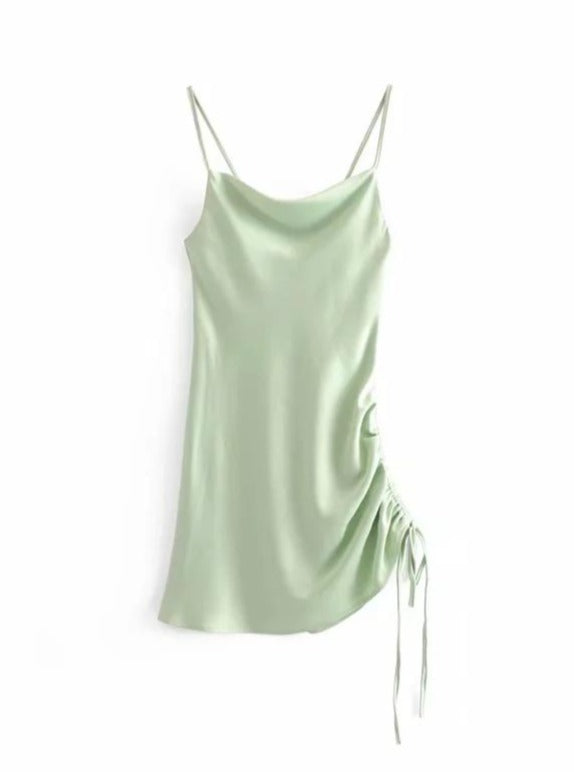 Satin Mini Slip Dress