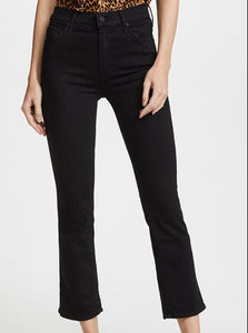 High Waist Cropped Flare Skinny Jeans