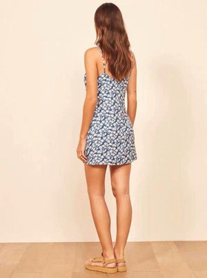 Strappy Printed Mini Dress