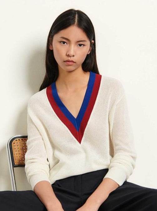 V Neck Stripe Jumper