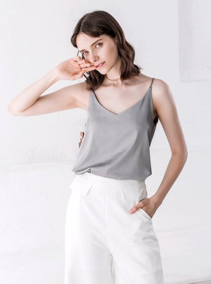 Satin V-Neck Camisole Top