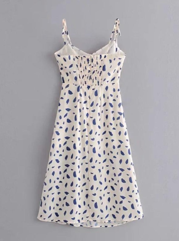 Printed Strappy Dress
