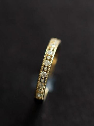 Silver Ring with Gold Plating and Crystal