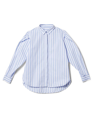 Puff Shoulder Stripe Shirt