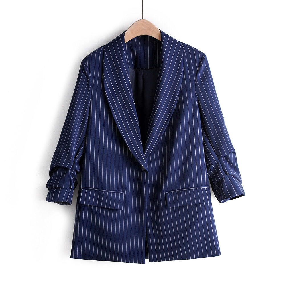 Navy Striped Blazer
