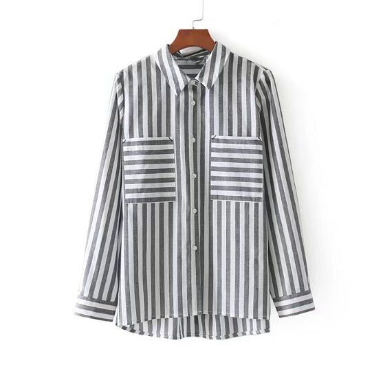 Striped Shirt with Pockets