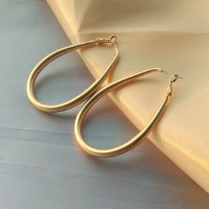 Water Drop Hoop Earrings
