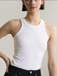 Organic Cotton White Tank