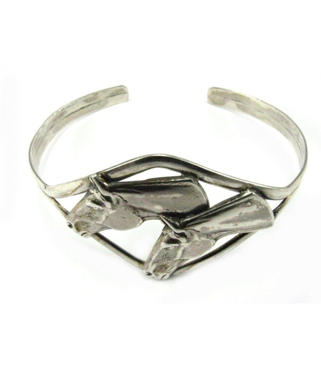 Two Horse Heads Bangle