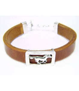 Leather Bracelet- Galloping Horse