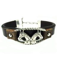 Load image into Gallery viewer, Two Horse Heads Leather Bracelet