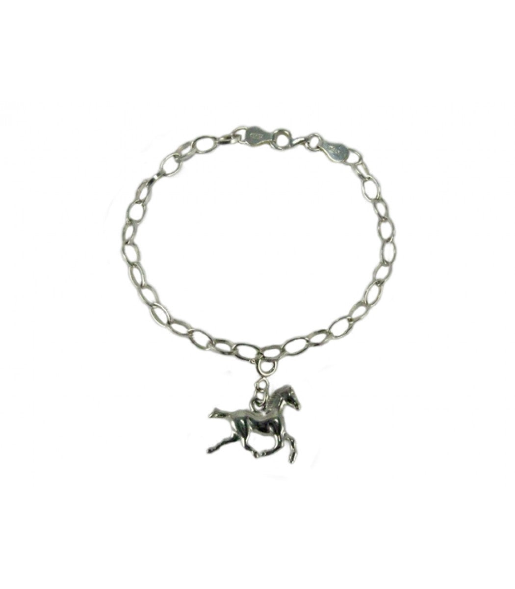 Silver Charm Bracelet with One Charm