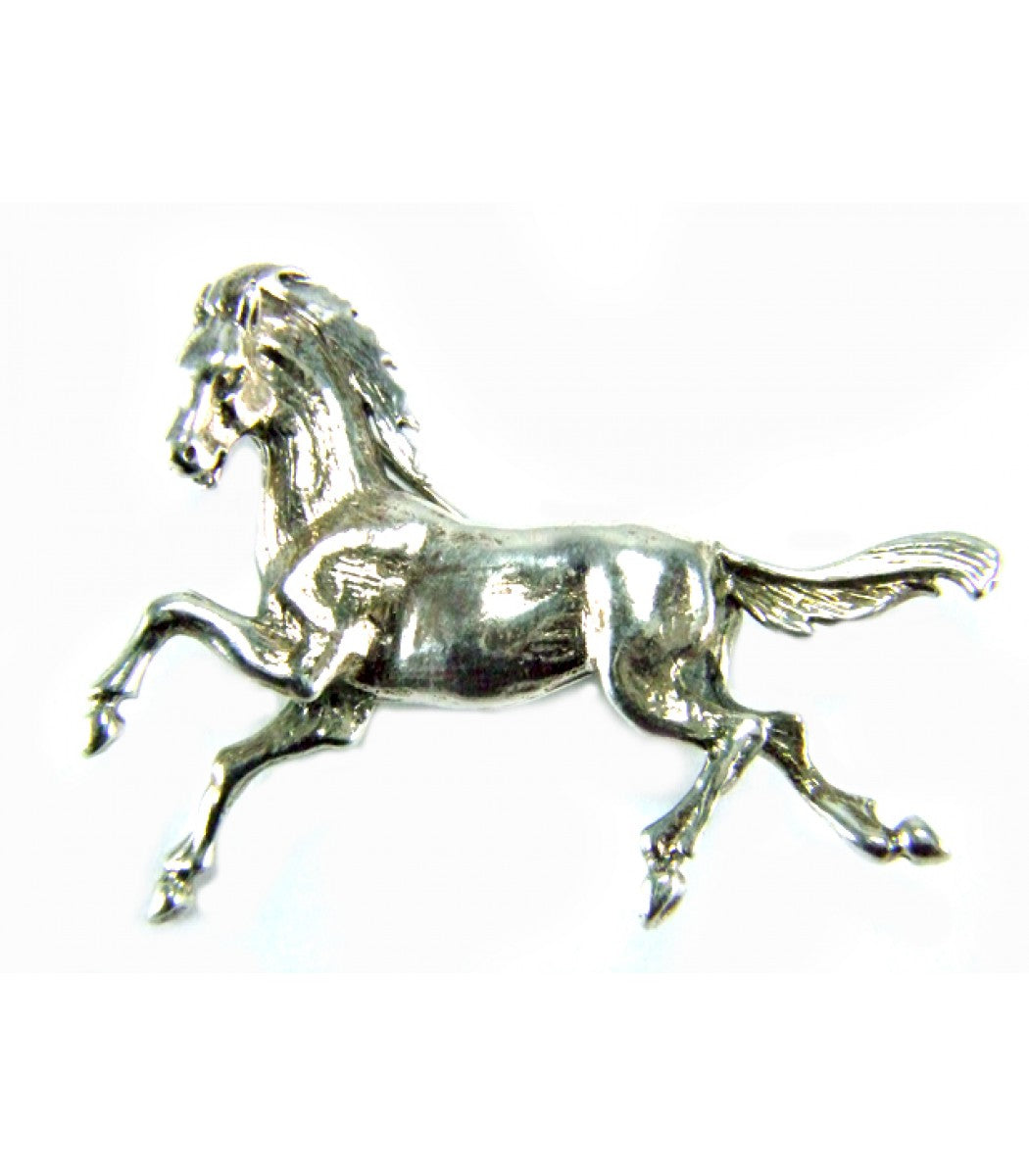 Large Silver Horse Brooch