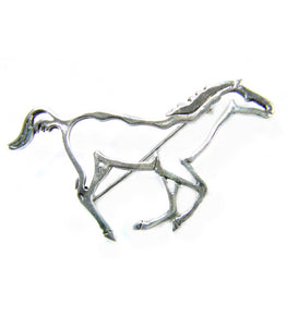 Horse Outline Brooch