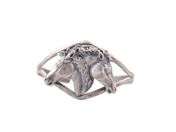 Two Horse Heads Bangle 2