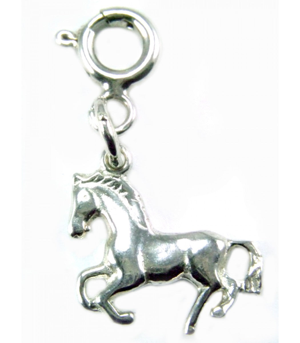 Small Silver Horse Charm