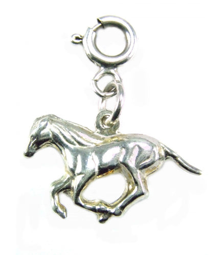 Silver Horse Charm 1