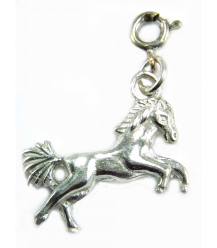 Silver Horse Charm 2