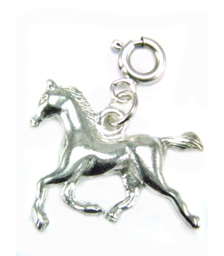 Silver Horse Charm 3