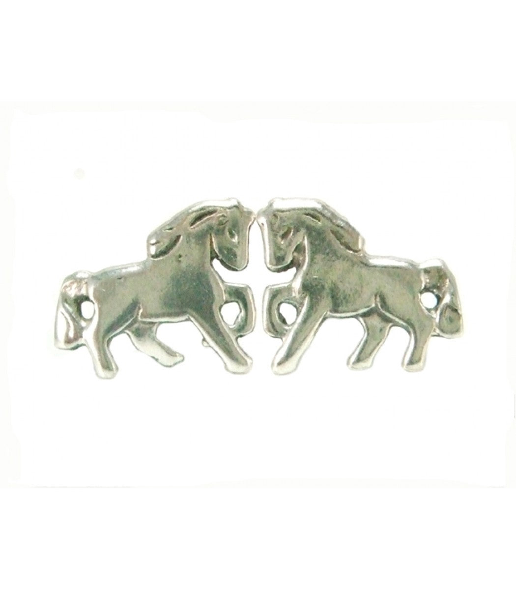 Small Silver Horse Studs
