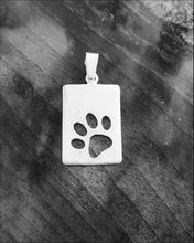 Load image into Gallery viewer, Silver paw pendant