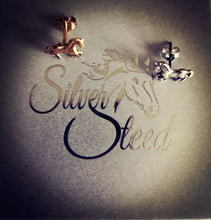 Load image into Gallery viewer, Small Silver Horse Stud Earrings 2