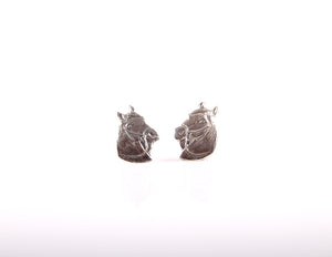 Bridled Horse Head 2 Studs Earrings