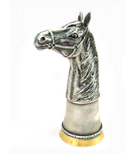 Horse Head Stirrup Cup with Gold Interior