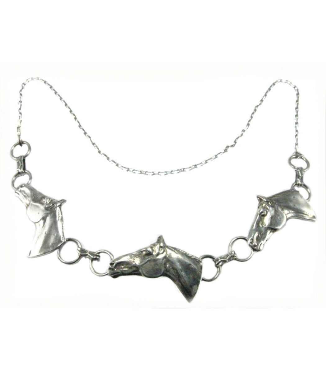 Three Horse Heads Necklace