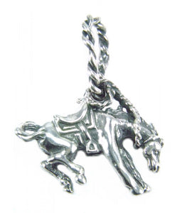 Small Bucking Horse Pendant
