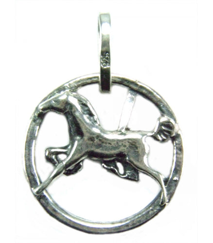 Horse in a Circle Pendant