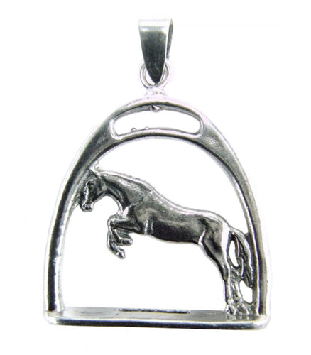 Horse with a Stirrup Pendant
