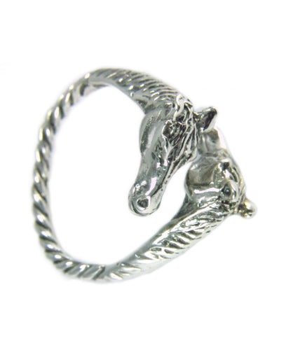 Two Horse Heads Ring