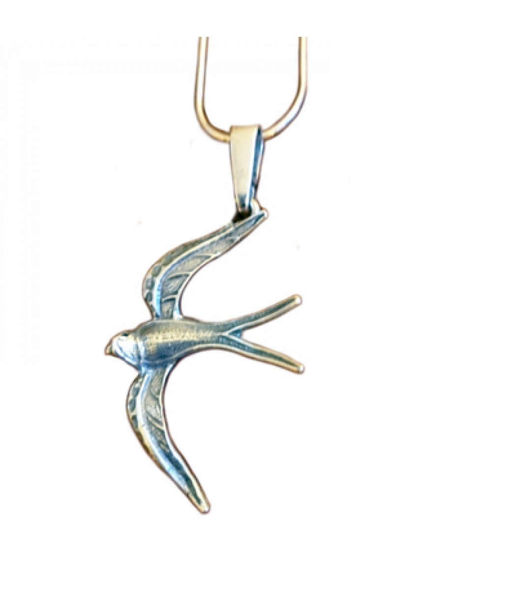 Handmade Silver Swallow Necklace