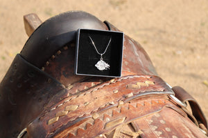 Equestrian Adventuresses Silver Necklace
