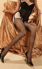 Ultra Sheer Glossy Thigh High Stockings